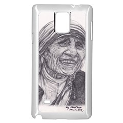 Mother Theresa  Pencil Drawing Samsung Galaxy Note 4 Case (white)