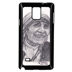 Mother Theresa  Pencil Drawing Samsung Galaxy Note 4 Case (black) by KentChua