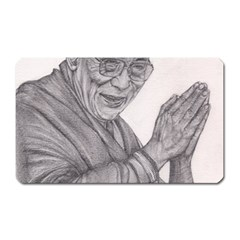 Dalai Lama Tenzin Gaytso Pencil Drawing Magnet (rectangular)