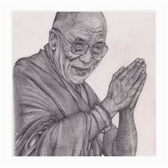 Dalai Lama Tenzin Gaytso Pencil Drawing Medium Glasses Cloth (2 Side) by KentChua