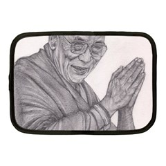 Dalai Lama Tenzin Gaytso Pencil Drawing Netbook Case (medium)  by KentChua