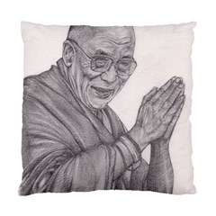 Dalai Lama Tenzin Gaytso Pencil Drawing Standard Cushion Case (one Side)  by KentChua