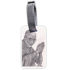 Dalai Lama Tenzin Gaytso Pencil Drawing Luggage Tags (two Sides) by KentChua