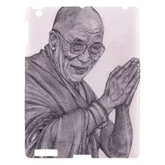 Dalai Lama Tenzin Gaytso Pencil Drawing Apple Ipad 3/4 Hardshell Case by KentChua