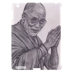 Dalai Lama Tenzin Gaytso Pencil Drawing Apple Ipad 3/4 Hardshell Case (compatible With Smart Cover) by KentChua