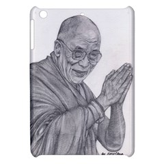 Dalai Lama Tenzin Gaytso Pencil Drawing Apple Ipad Mini Hardshell Case by KentChua