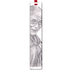 Dalai Lama Tenzin Gaytso Pencil Drawing Large Book Marks by KentChua