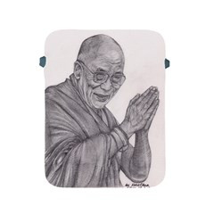 Dalai Lama Tenzin Gaytso Pencil Drawing Apple Ipad 2/3/4 Protective Soft Cases by KentChua