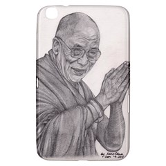 Dalai Lama Tenzin Gaytso Pencil Drawing Samsung Galaxy Tab 3 (8 ) T3100 Hardshell Case  by KentChua