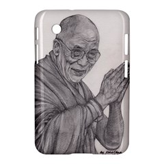 Dalai Lama Tenzin Gaytso Pencil Drawing Samsung Galaxy Tab 2 (7 ) P3100 Hardshell Case  by KentChua