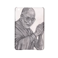 Dalai Lama Tenzin Gaytso Pencil Drawing Ipad Mini 2 Hardshell Cases by KentChua