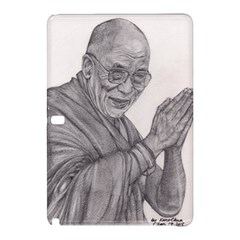 Dalai Lama Tenzin Gaytso Pencil Drawing Samsung Galaxy Tab Pro 12 2 Hardshell Case by KentChua