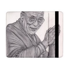 Dalai Lama Tenzin Gaytso Pencil Drawing Samsung Galaxy Tab Pro 8 4  Flip Case by KentChua