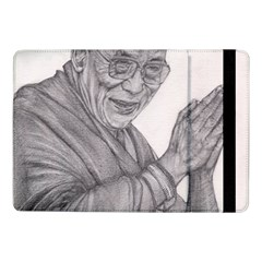 Dalai Lama Tenzin Gaytso Pencil Drawing Samsung Galaxy Tab Pro 10 1  Flip Case by KentChua