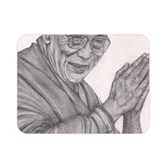 Dalai Lama Tenzin Gaytso Pencil Drawing Double Sided Flano Blanket (mini)  by KentChua