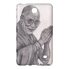 Dalai Lama Tenzin Gaytso Pencil Drawing Samsung Galaxy Tab 4 (8 ) Hardshell Case  by KentChua