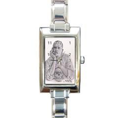 Alexander Mcqueen Pencil Drawing Rectangle Italian Charm Watches by KentChua
