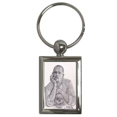 Alexander Mcqueen Pencil Drawing Key Chains (rectangle)  by KentChua