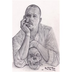 Alexander Mcqueen Pencil Drawing 5 5  X 8 5  Notebooks by KentChua