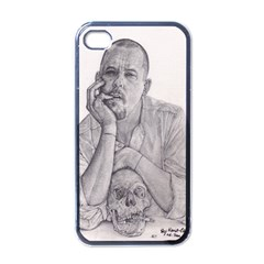 Alexander Mcqueen Pencil Drawing Apple Iphone 4 Case (black) by KentChua