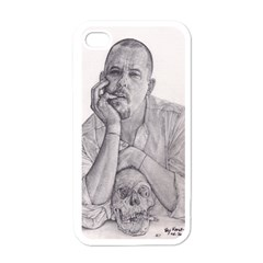 Alexander Mcqueen Pencil Drawing Apple Iphone 4 Case (white) by KentChua