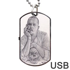 Alexander Mcqueen Pencil Drawing Dog Tag Usb Flash (one Side)