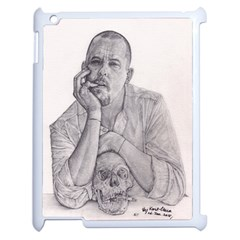 Alexander Mcqueen Pencil Drawing Apple Ipad 2 Case (white) by KentChua