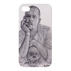 Alexander Mcqueen Pencil Drawing Apple Iphone 4/4s Premium Hardshell Case by KentChua