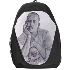 Alexander Mcqueen Pencil Drawing Backpack Bag by KentChua