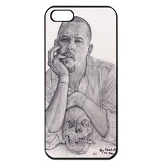 Alexander Mcqueen Pencil Drawing Apple Iphone 5 Seamless Case (black) by KentChua