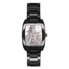 Alexander Mcqueen Pencil Drawing Stainless Steel Barrel Watch by KentChua
