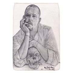Alexander Mcqueen Pencil Drawing Flap Covers (s)  by KentChua