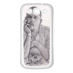 Alexander Mcqueen Pencil Drawing Samsung Galaxy S3 Back Case (white) by KentChua
