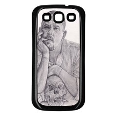 Alexander Mcqueen Pencil Drawing Samsung Galaxy S3 Back Case (black)