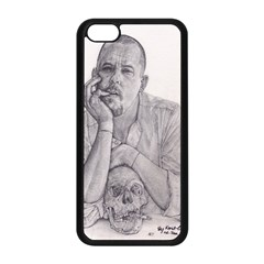 Alexander Mcqueen Pencil Drawing Apple Iphone 5c Seamless Case (black) by KentChua