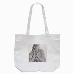Alexander Mcqueen Pencil Drawing Tote Bag (white)