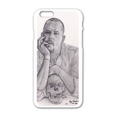 Alexander Mcqueen Pencil Drawing Apple Iphone 6/6s White Enamel Case by KentChua