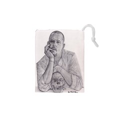 Alexander Mcqueen Pencil Drawing Drawstring Pouches (xs)  by KentChua