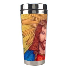 Scared Heart Of Jesus Christ Drawing Stainless Steel Travel Tumblers by KentChua