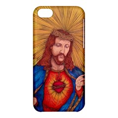 Sacred Heart Of Jesus Christ Drawing Apple Iphone 5c Hardshell Case by KentChua