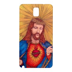 Sacred Heart Of Jesus Christ Drawing Samsung Galaxy Note 3 N9005 Hardshell Back Case by KentChua