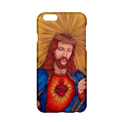 Sacred Heart Of Jesus Christ Drawing Apple Iphone 6/6s Hardshell Case by KentChua