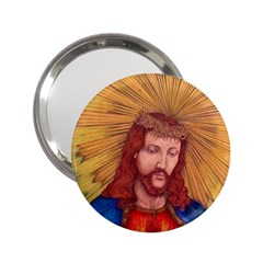 Sacred Heart Of Jesus Christ Drawing 2 25  Handbag Mirrors by KentChua