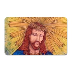 Sacred Heart Of Jesus Christ Drawing Magnet (rectangular) by KentChua