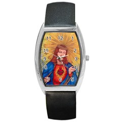 Sacred Heart Of Jesus Christ Drawing Barrel Metal Watches by KentChua