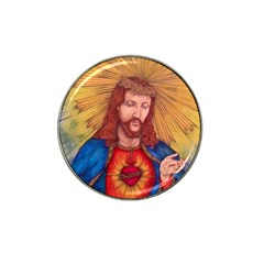 Sacred Heart Of Jesus Christ Drawing Hat Clip Ball Marker by KentChua