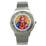 Sacred Heart Of Jesus Christ Drawing Stainless Steel Watches Front