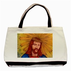 Sacred Heart Of Jesus Christ Drawing Basic Tote Bag  by KentChua