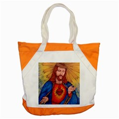 Sacred Heart Of Jesus Christ Drawing Accent Tote Bag  by KentChua
