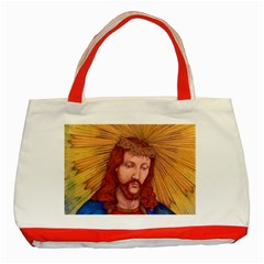 Sacred Heart Of Jesus Christ Drawing Classic Tote Bag (red)  by KentChua